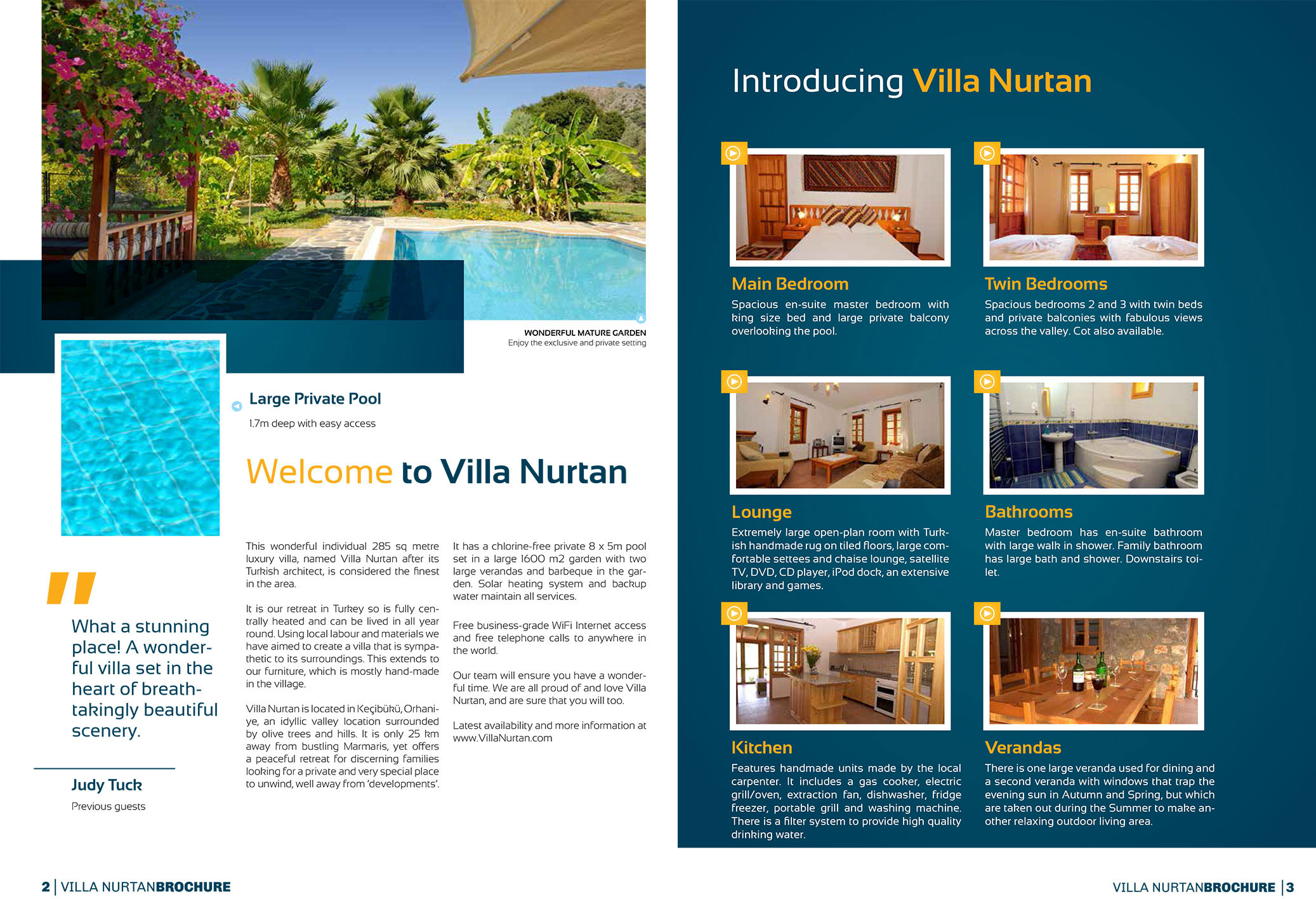 Luxury Villa Nurtan in Turkey Online Colour Brochure